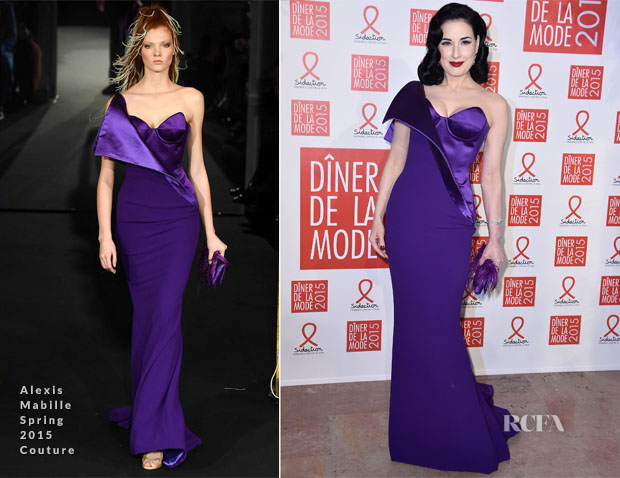 Dita Von Teese In Alexis Mabille Couture - Sidaction Gala Dinner 2015