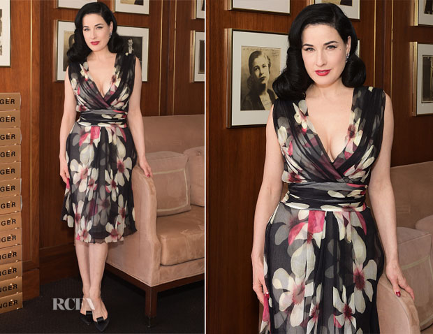 Dita von Teese in Carolina Herrera - Champagne Taittinger Celebrates Women In Hollywood