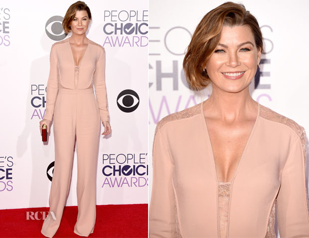 Ellen Pompeo In Elie Saab - 2014 People's Choice Awards