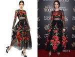 Emily Blunt's Dolce & Gabbana Floral Embroidered Swiss Dot Tulle Dress