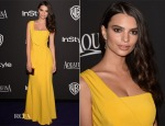 Emily Ratajkowski In Escada - 2015 InStyle and Warner Bros. Golden Globe Awards Post-Party