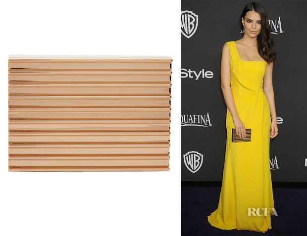 Emily Ratajkowski's Lee Savage Brass Clutch