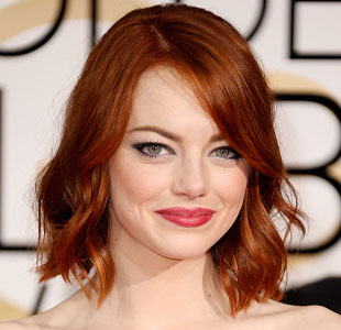 Emma Stone Golden Globes Makeup