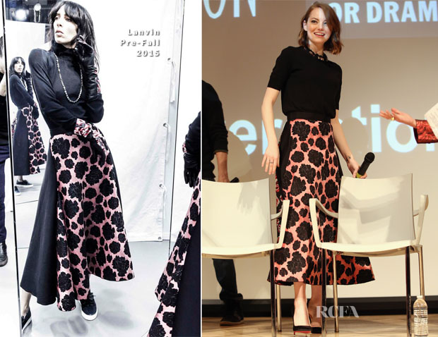 Emma Stone In Lanvin - SAG Foundation Conversations 'Birdman'