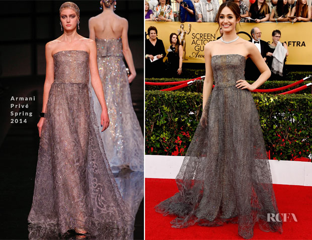 Emmy Rossum In Armani Privé - 2015 SAG Awards 2