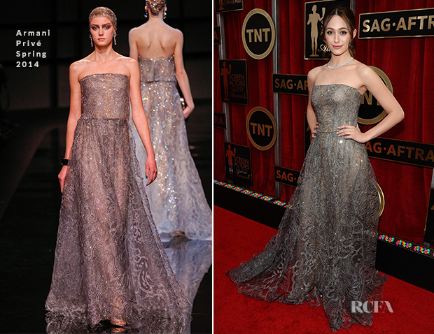 Emmy Rossum In Armani Privé - 2015 SAG Awards