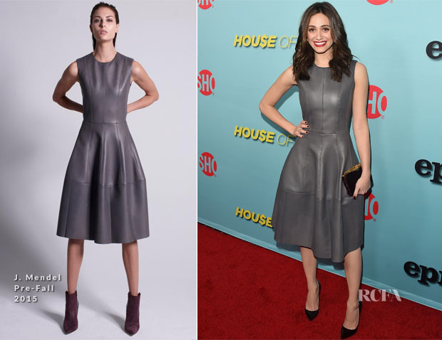 Emmy Rossum In J Mendel - Showtime Celebrates The New Season Of 'Shameless'