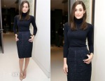 Emmy Rossum In Carolina Herrera - Carbon38 Celebrates Second Anniversary