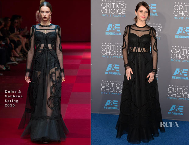 Felicity Jones In Dolce & Gabbana - 2015 Critics' Choice Movie Awards