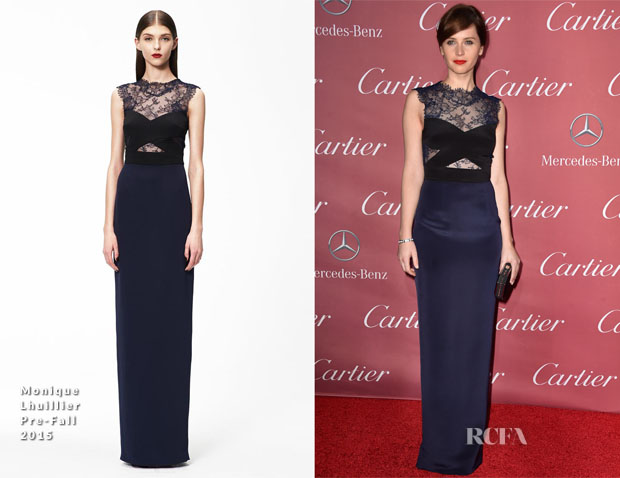 Felicity Jones In Monique Lhuillier - 26th Annual Palm Springs International Film Festival Awards Gala