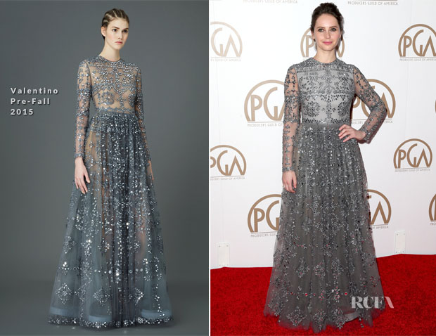 Felicity Jones In Valentino - 2015 Producers Guild Awards