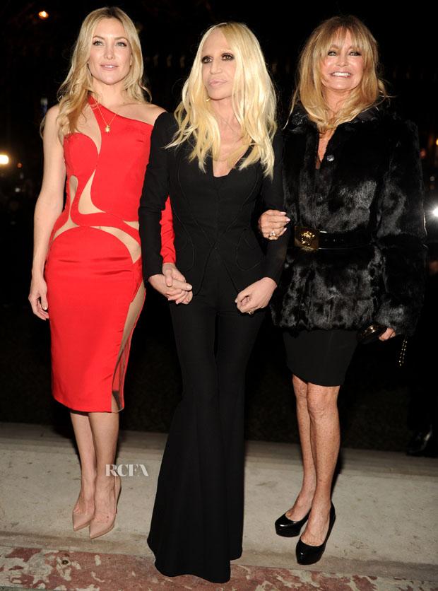 Kate Hudson;Donatella Versace;Goldie Hawn