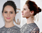 Get The Look Felicity Jones' Producers Guild Awards Tousled Bun