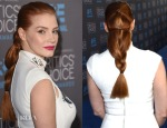 Get The Look Jessica Chastain's Critics' Choice Awards Loose Braid