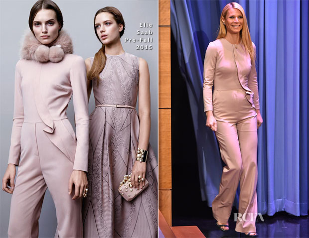 Gwyneth Paltrow In Elie Saab - The Tonight Show Starring Jimmy Fallon