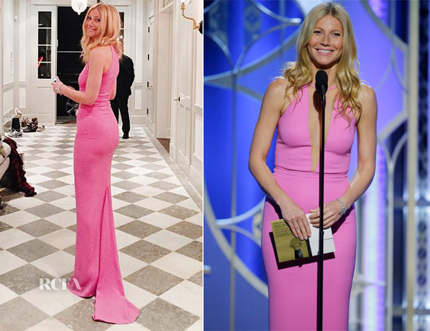 Gwyneth Paltrow In Michael Kors - 2015 Golden Globe Awards