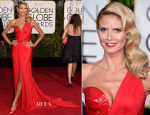 Heidi Klum In Atelier Versace - 2015 Golden Globe Awards