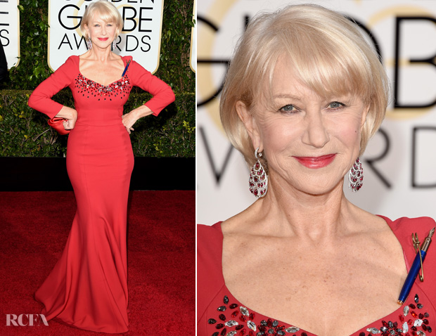 Helen Mirren In Dolce & Gabbana – 2015 Golden Globes