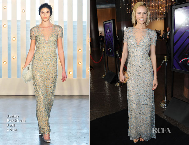 Isabel Lucas In Jenny Packham - 'The Loft' LA Premiere