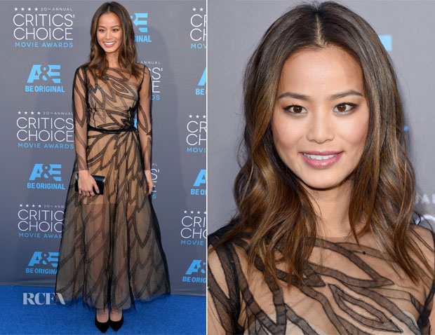 Jamie Chung In Yanina Couture - 2015 Critics' Choice Movie Awards