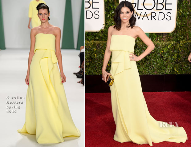 Jenna Dewan Tatum In Carolina Herrera - 2015 Golden Globe Awards