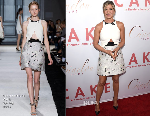 Jennifer Aniston In Giambattista Valli - 'Cake' LA Premiere