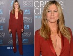 Jennifer Aniston In Gucci 2015 Critics' Choice Movie Awards