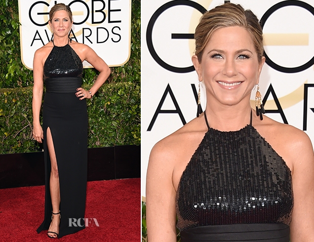 Jennifer Aniston In Saint Laurent - 2015 Golden Globe Awards