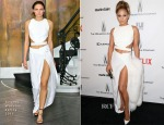 Jennifer Lopez In Amanda Wakeley - Weinstein Company and Netflix 2015 Golden Globes After Party