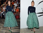Jennifer Lopez In  Christian Siriano - AOL Build Speaker Series & Late Night with Seth Meyers