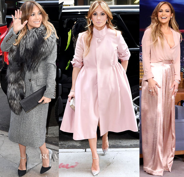 Jennifer Lopez In Roberto Cavalli, Reem Acra  & Solace London - 'The Boy Next Door' New York Promo Tour