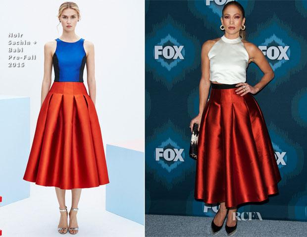 Jennifer Lopez In SisSae & Noir Sachin & Babi - Fox All-Star Party