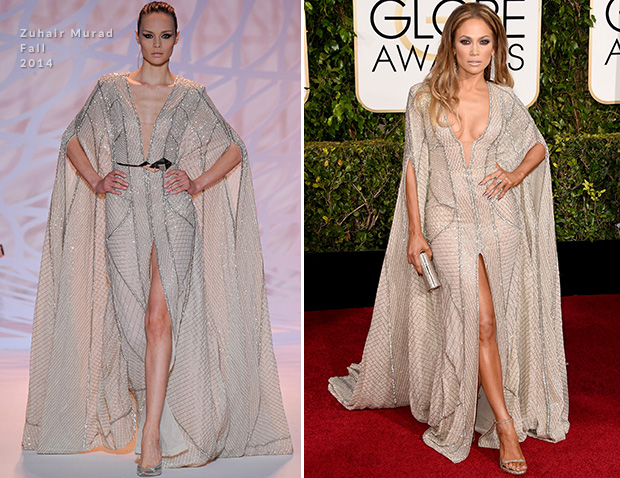Jennifer Lopez In Zuhair Murad – 2015 Golden Globe Awards