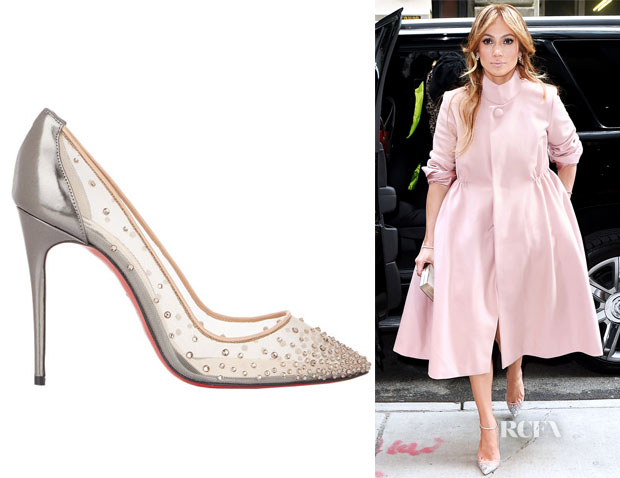 Jennifer Lopez's Christian Louboutin Crystal-Embellished Follies Strass Pumps