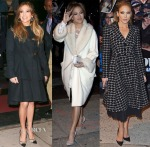 Jennifer Lopez's Three Coats In One Day