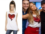 Jennifer Lopez's  Vivienne Westwood Anglomania Sleeveless Sequined Cotton T-Shirt