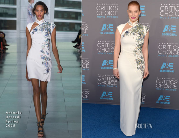 Jessica Chastain In Antonio Berardi - 2015 Critics' Choice Movie Awards