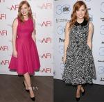 Jessica Chastain In Lela Rose & Michael Kors - 2015 AFI Awards & 2015 Film Independent Filmmaker Grant and Spirit Awards Nominees Brunch
