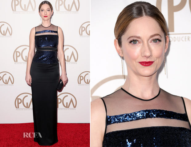 Judy Greer In Pamella Roland - 2015 Producers Guild Awards