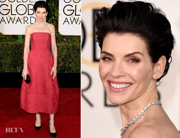 Julianna Margulies In Ulyana Sergeenko Couture – 2015 Golden Globes