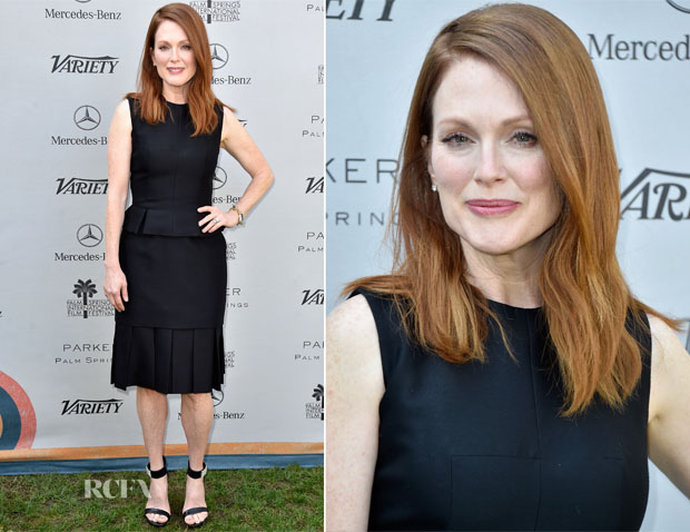 Julianne Moore In Alexander McQueen - Variety's Creative Impact Awards And 10 Directors To Watch Brunch