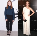 Julianne Moore In Balenciaga & Alexander McQueen - AOL's BUILD Speaker Series & 'Still Alice' New York Premiere