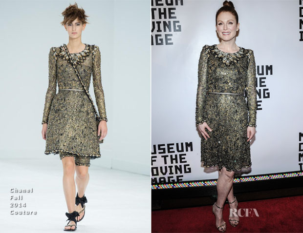 Julianne Moore In Chanel Couture - Museum Of The Moving Image Gala Salute