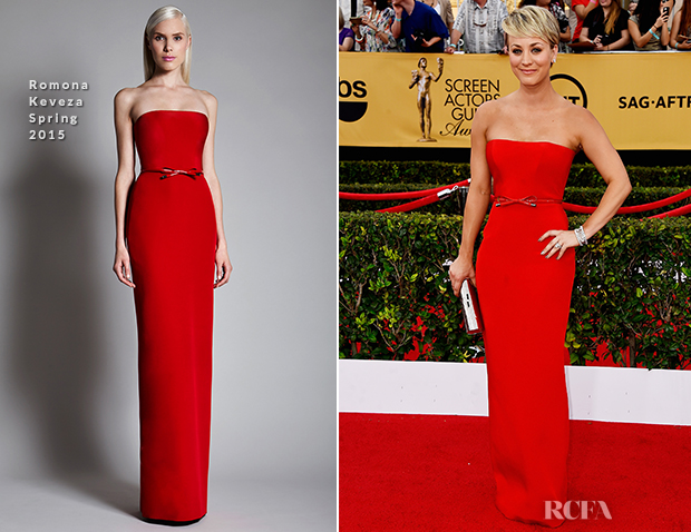 Kaley Cuoco In Romona Keveza - 2015 SAG Awards_