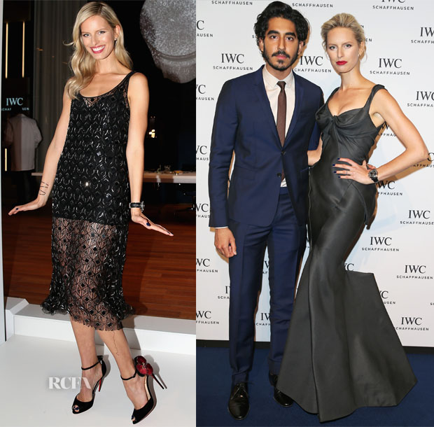 Karolina Kurkova In Haney & Zac Posen - IWC Booth & Gala Dinner