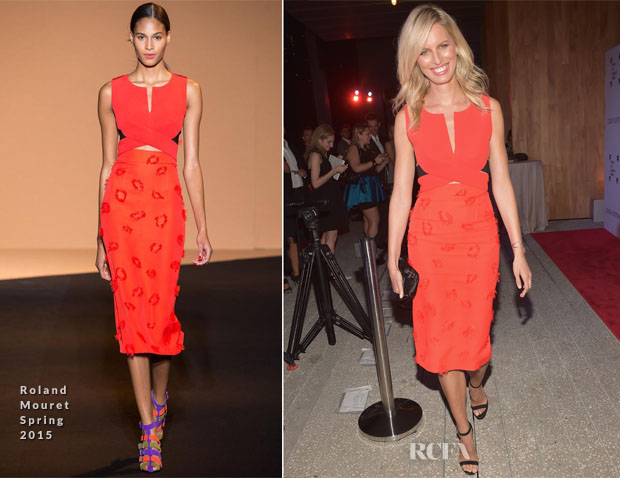 Karolina Kurkova In Roland Mouret - PAMM Art of the Party Event