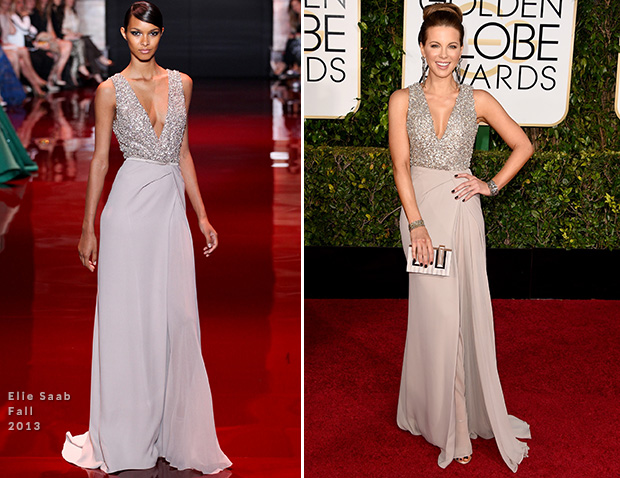 Kate Beckinsale In Elie Saab – 2015 Golden Globe Awards
