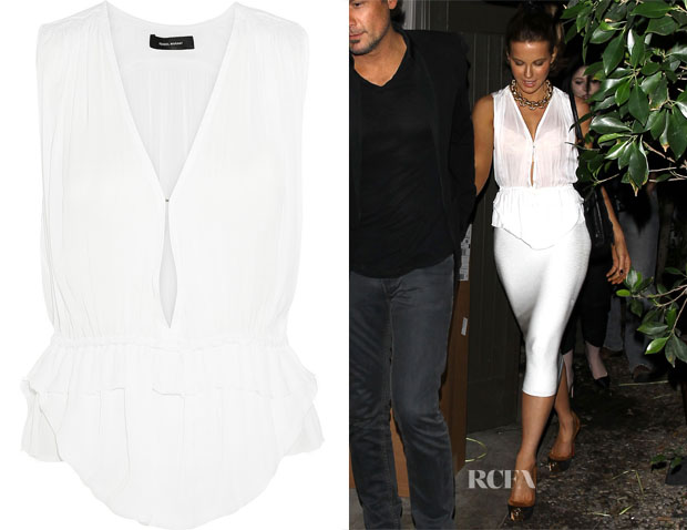 Kate Beckinsale's Isabel Marant Abigail Crepe Top