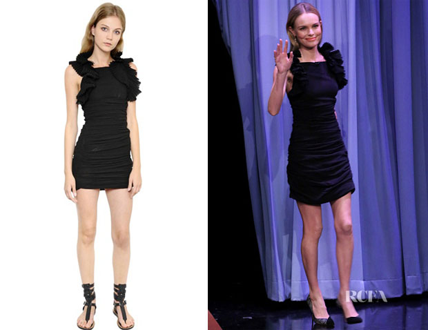 Kate Bosworth's Isabel Marant Ruffled Cotton Gauze Dress