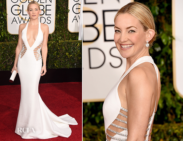 Kate Hudson In Atelier Versace - 2015 Golden Globe Awards